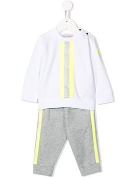 Moncler Kids striped tracksuit - White