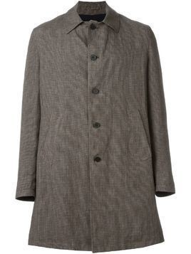 Lardini single breasted checked coat - Brown