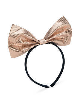 Hucklebones London Bow hairband - Pink & Purple