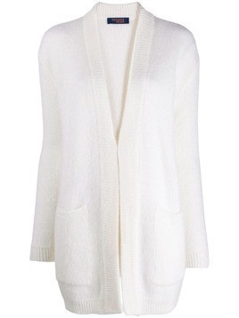 Trussardi Jeans open front cardigan - White