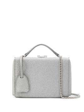 Mark Cross Grace glitter mini box bag - SILVER