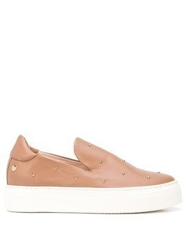 AGL studded slip-on trainers - Brown