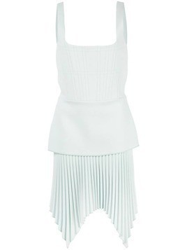 Dion Lee pleated mini dress - Blue