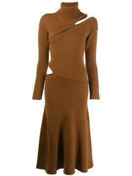 Each X Other asymmetric sweater dress - Brown