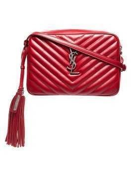 Saint Laurent Red Lou quilted leather shoulder bag