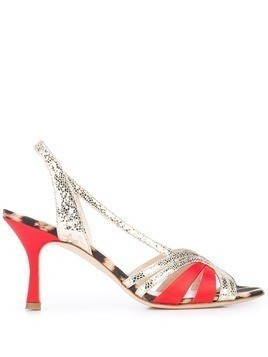 Gia Couture leopard print sandals - Red