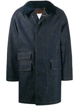 Mackintosh Falkirk fly fronted coat - Blue