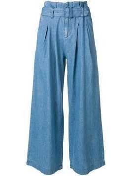 Levi's: Made & Crafted belted wide leg trousers - Blue