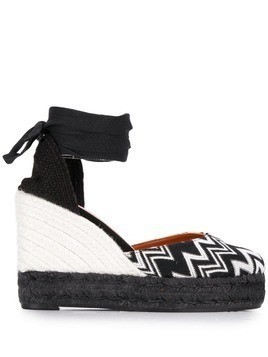 Castañer X Missoni Items zig-zag wedge espadrilles - Black
