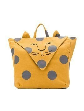 Emile Et Ida lion print backpack - Yellow