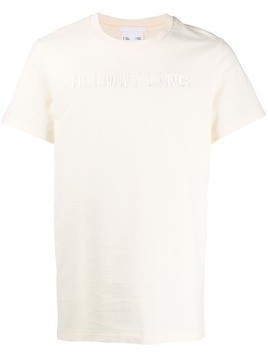 Helmut Lang logo embroidered T-shirt - Neutrals