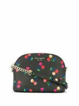 Kate Spade Spencer cherry print crossbody bag - Black