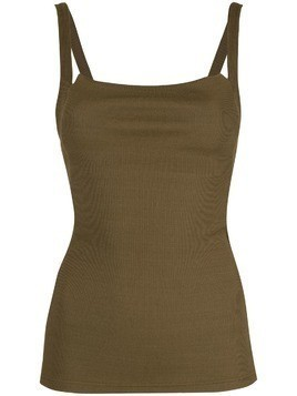 Christopher Esber ribbed tank top - Green
