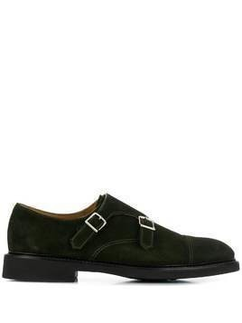 Doucal's buckle-front monk shoes - Green