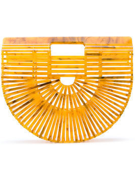 Cult Gaia small Ark clutch bag - Yellow & Orange