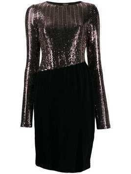 Just Cavalli sequin fitted dress - Black