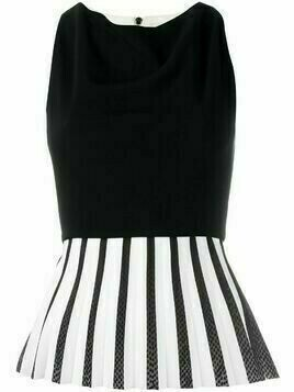 Roland Mouret pleated peplum top - Black