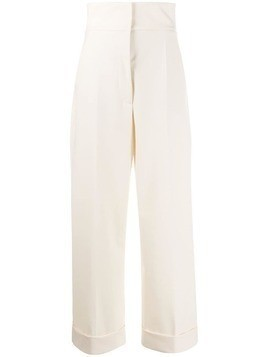 Alberta Ferretti high-waist tailored trousers - White