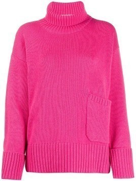Lamberto Losani patch pocket sweater - Pink