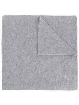 Fay embroidered logo scarf - Grey