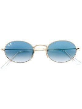 Ray-Ban gradient lens round frame sunglasses - Metallic