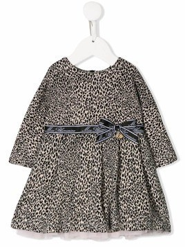 Miss Blumarine flared leopard dress - Brown