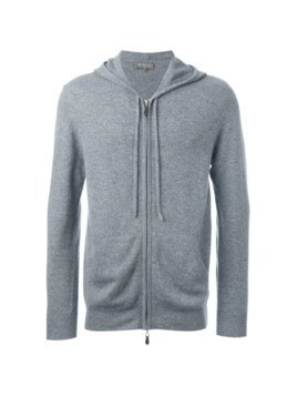 N.Peal hooded zip sweater - Grey