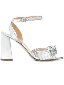 Rebecca Minkoff cross strap sandals - Metallic