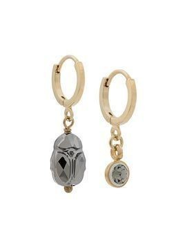 Isabel Marant Vedette mismatched hoop earrings - Gold