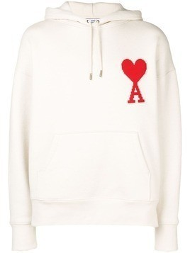 Ami Alexandre Mattiussi Hoodie With Big Ami Coeur Patch - White