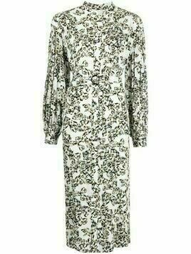 Lala Berlin Dilona butterfly-print dress - White