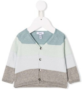 Knot Echo knitted cardigan - Blue