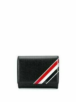 Thom Browne signature tricolour foldover wallet - 001 BLACK