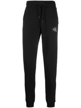 Calvin Klein Jeans logo patch track trousers - Black