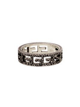 Gucci square G engraved ring - Silver