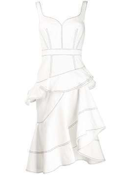Alexander McQueen ruffled asymmetric dress - White
