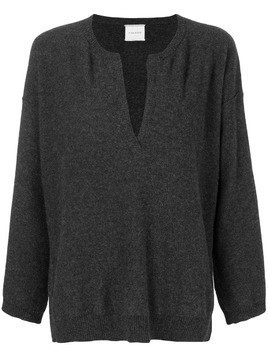 Fine Edge v-neck sweater - Grey