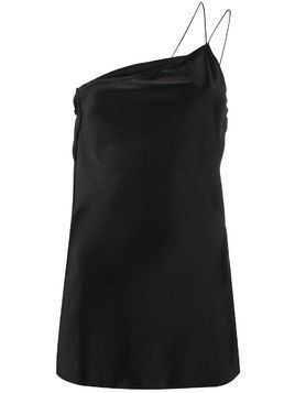 Erika Cavallini one-shoulder slim-fit top - Black