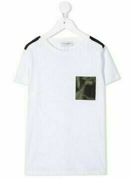 Paolo Pecora Kids patch-pocket T-shirt - White