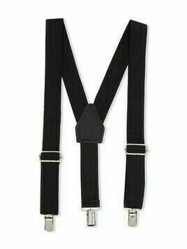 Paolo Pecora Kids logo-patch suspenders - Black