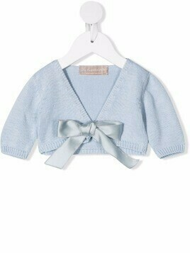 La Stupenderia rib-trimmed cotton cardigan - Blue