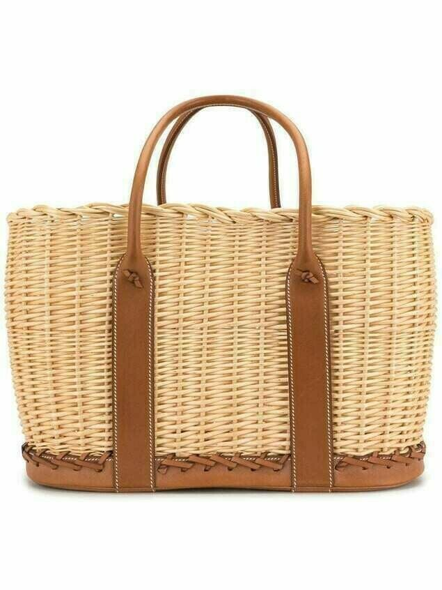 Hermès pre-owned Garden Picnic Basket tote bag - Brown