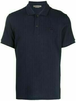 Corneliani embroidered-logo cotton polo shirt - Blue