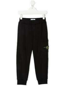 Stone Island Junior logo-patch track trousers - Black