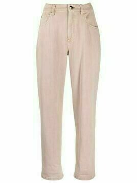 Brunello Cucinelli high-waist straight jeans - Pink