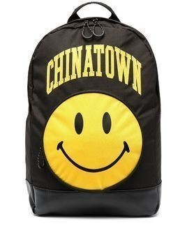 Chinatown Market Smiley logo print backpack - Black