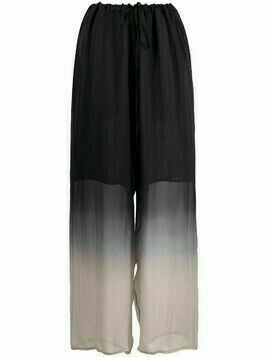 Masnada dip-dyed silk trousers - Black
