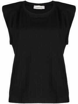 Laneus padded-shoulder tank top - Black