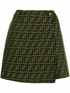 Fendi Pre-Owned Zucca pattern skirt - Brown