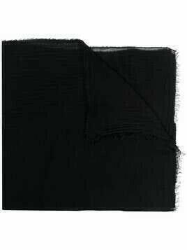 Faliero Sarti frayed edge scarf - Black